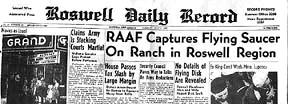 Roswell Newspaper reports UFO