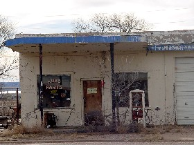 Old Gas Station in San Jon, New Mexico