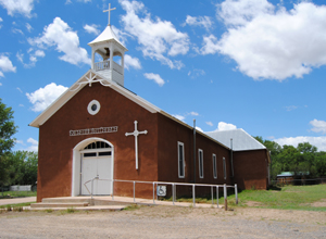 Church in Watrous, New Mexico