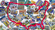 Get the 51 All States Postcard Package