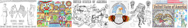 Legends of America's Coloring Pages