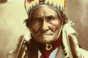 Vintage Geronimo photo after restoration.