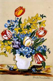 Fred Lambert Flower Painting