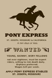 Pony Express Riders Wanted Poster