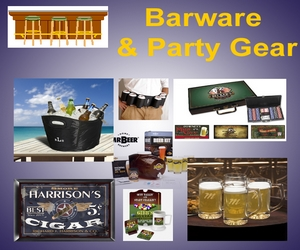 Personalized Barware and Party Gear