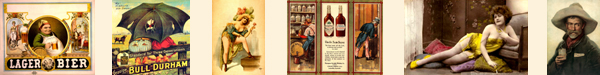 Saloon Style Advertising and Wall Images