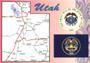 Utah Map Postcard