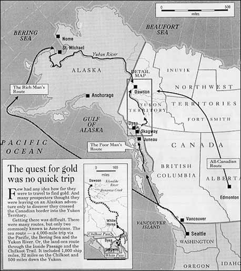 routes to the klondike map