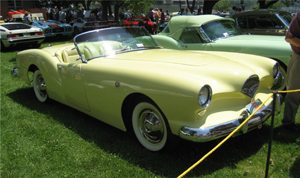 1954 Kaiser Darrin convertible photographed at the 2008 Greenwich Concours d'Elegance in Greenwich, Connecticut