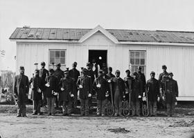 /Black Infantry at Fort Corcoran, VA, 1865