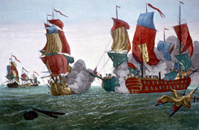 Battle between the Bonhomme Richard and the Serapis,
