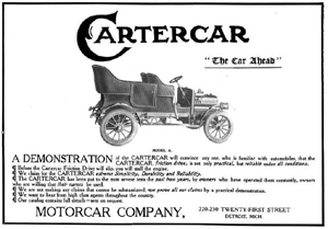 Ad for Motorcar Company of Detroit, Michigan - Cartercar - 1906