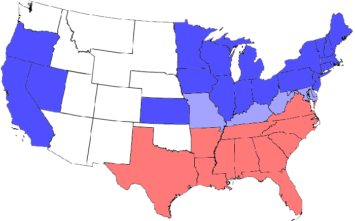 a description of the all regions of the country emerged during the post civil war era During the civil war westerners enlisted in both armies, a division that was reflected in northern california's sympathy for the union and southern california's leanings toward the confederacy in 1861, john frémont, now in charge of the department of the west, which administered land west of the mississippi, roughly up to the californian border, actually attempted to issue an emancipation proclamation.