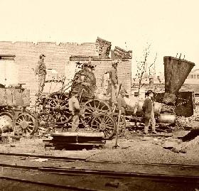 A crippled train in Richmond