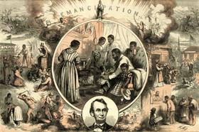 Emancipation by Thomas Nast, 1865