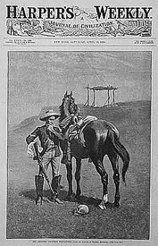 Frederic Remington Harper's Weekly Cover, April, 1889