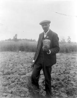 George Washington Carver in Field, 1902. Photo Benjamin F. Johnston