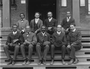 George Washington Carver with Staff, 1902. Photo by Benjamin F. Johnston