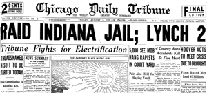 Marion Indiana Lynching, 1930 headlines