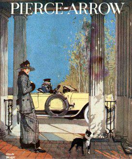 "1919 US advertisement in ""Life"" magazine for Pierce-Arrow Automobiles"