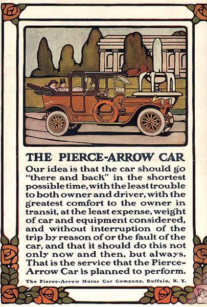 Pierce-Arrow Illustration by Guernsey Moore, 1914