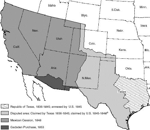 The MexicanAmerican War Timeline - Map of the us before the mexican american war