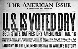 United State is Voted Dry