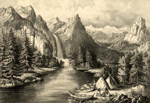 American Indians at Yosemite, California