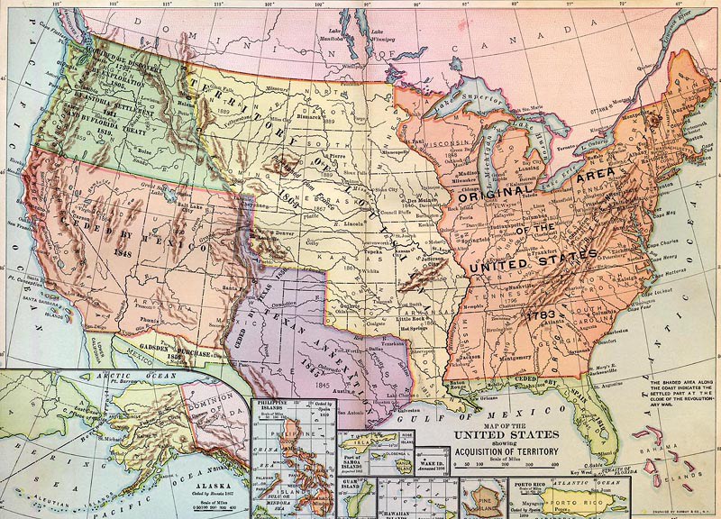 Pushing The Native Americans Westward - Us native american map