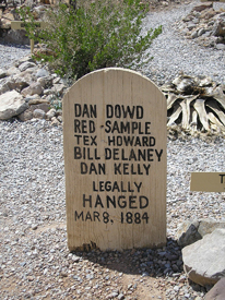 Grave of the gang responsible for the Bisbee Masacre in Tombstone, Az, Kathy Weiser, 2007