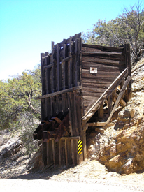 Mining remnants between Harshaw and Mowry, Arizona