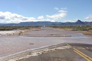 Flooded Oatman Highway