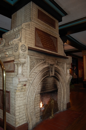 Fireplace in the Crescent Hotel, 2009
