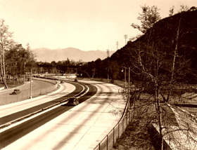 Arroy Seco Parkway in Los Angeles, California is also Route 66