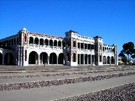 The old depot and Harvey Hotel in Barstow California