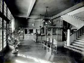 Harvey House Lobby in Barstow, California