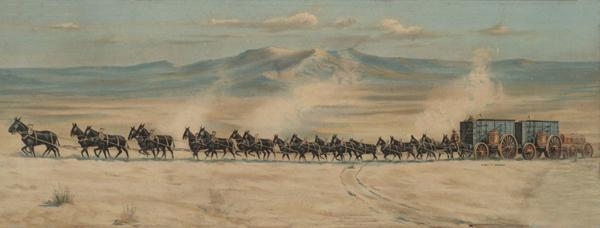 20-Mule Team hauling Borax in Death Valley