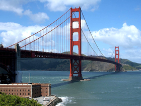 Golden Gate Bridge and Fort Point today