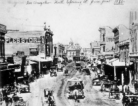 Los Angeles, California in 1886