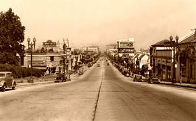 Colorado Boulevard in Pasadena, California in 1929