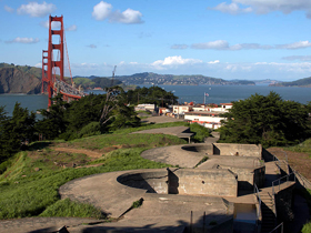 The Presidio And Golden Gate Bridge in San Francisco, California