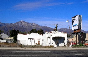 Vintage filling station in Rancho Cucamonga, Calfornia