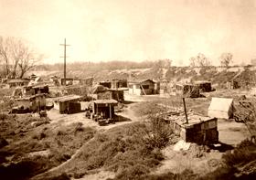Hooverville in Sacramento, California