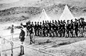 US Army at Gillems Camp, Lava Beds National Monument, 1873