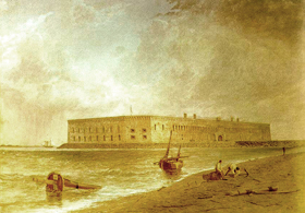 Fort Sumter before the Civil War.