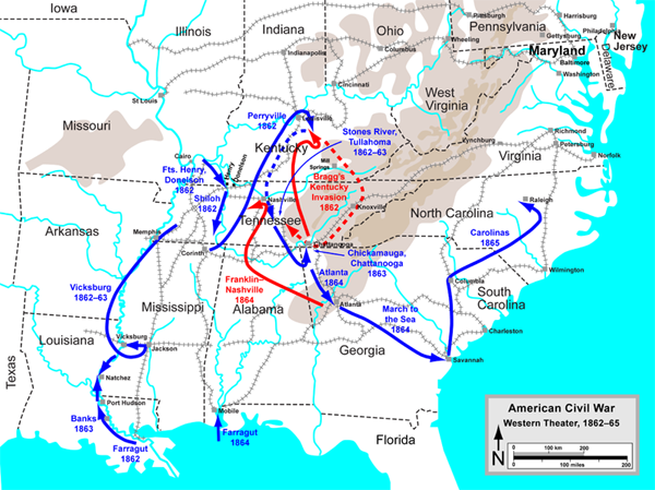 western theater of the civil war