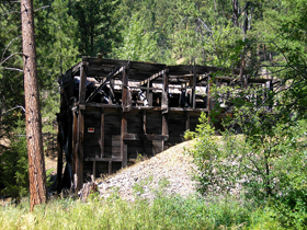 Mining remains just outside Gibbonsville, Idaho