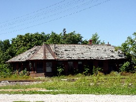 The old depot in Chenoa, Illinois