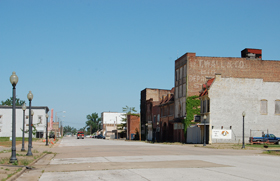 Commercial Street, Cairo, Illinois today