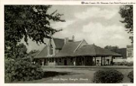Dwight, Illinois Train Depot in 1946